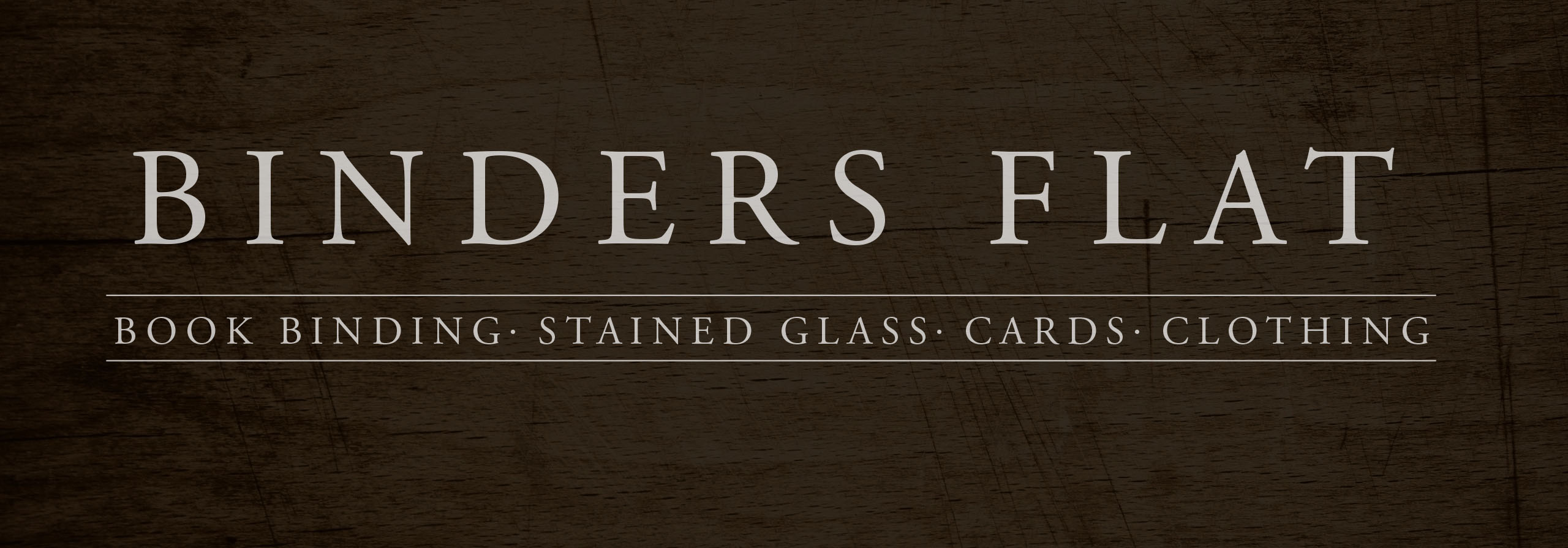 binders flat wood background logo