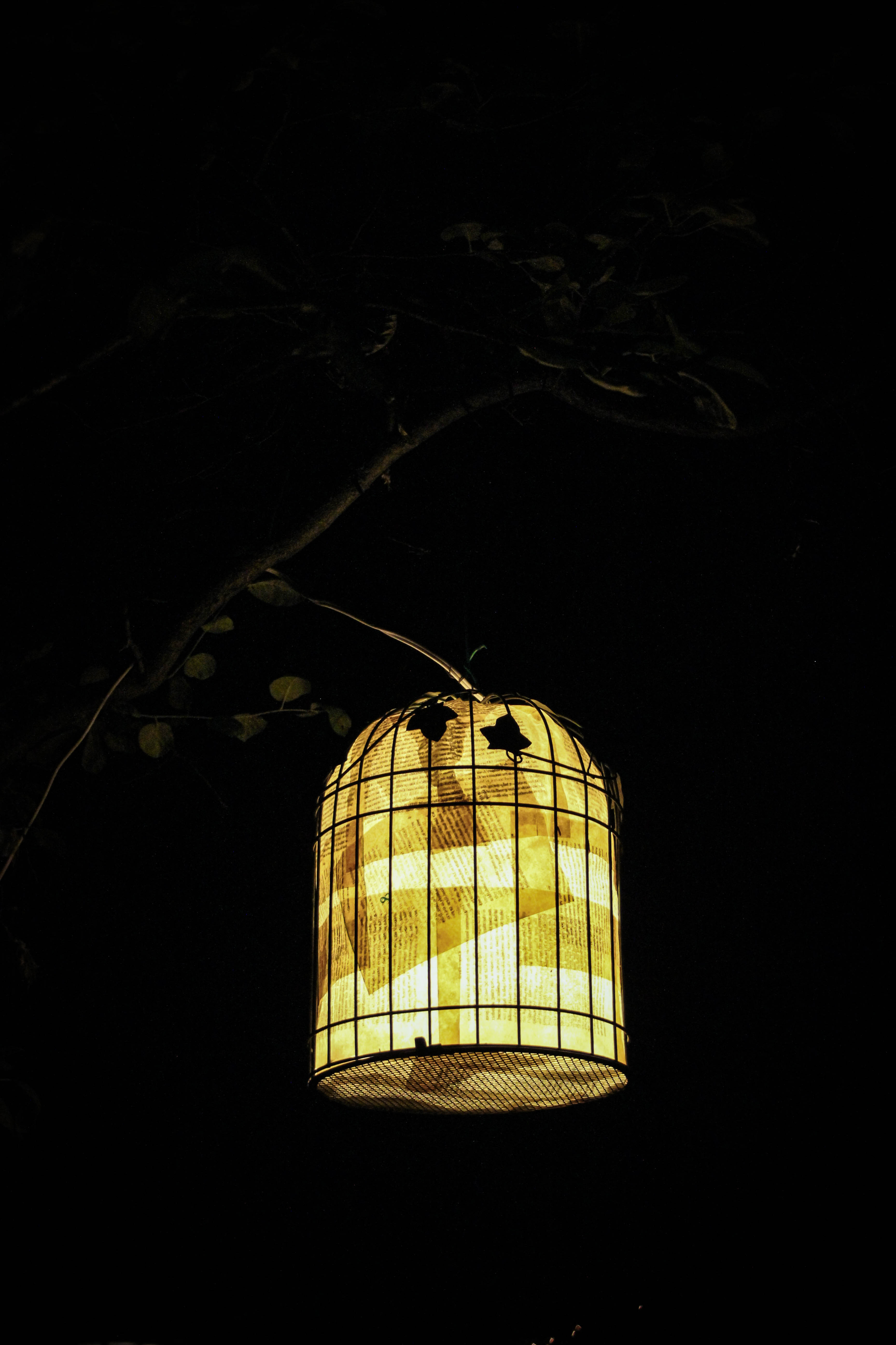 decoupage lamp