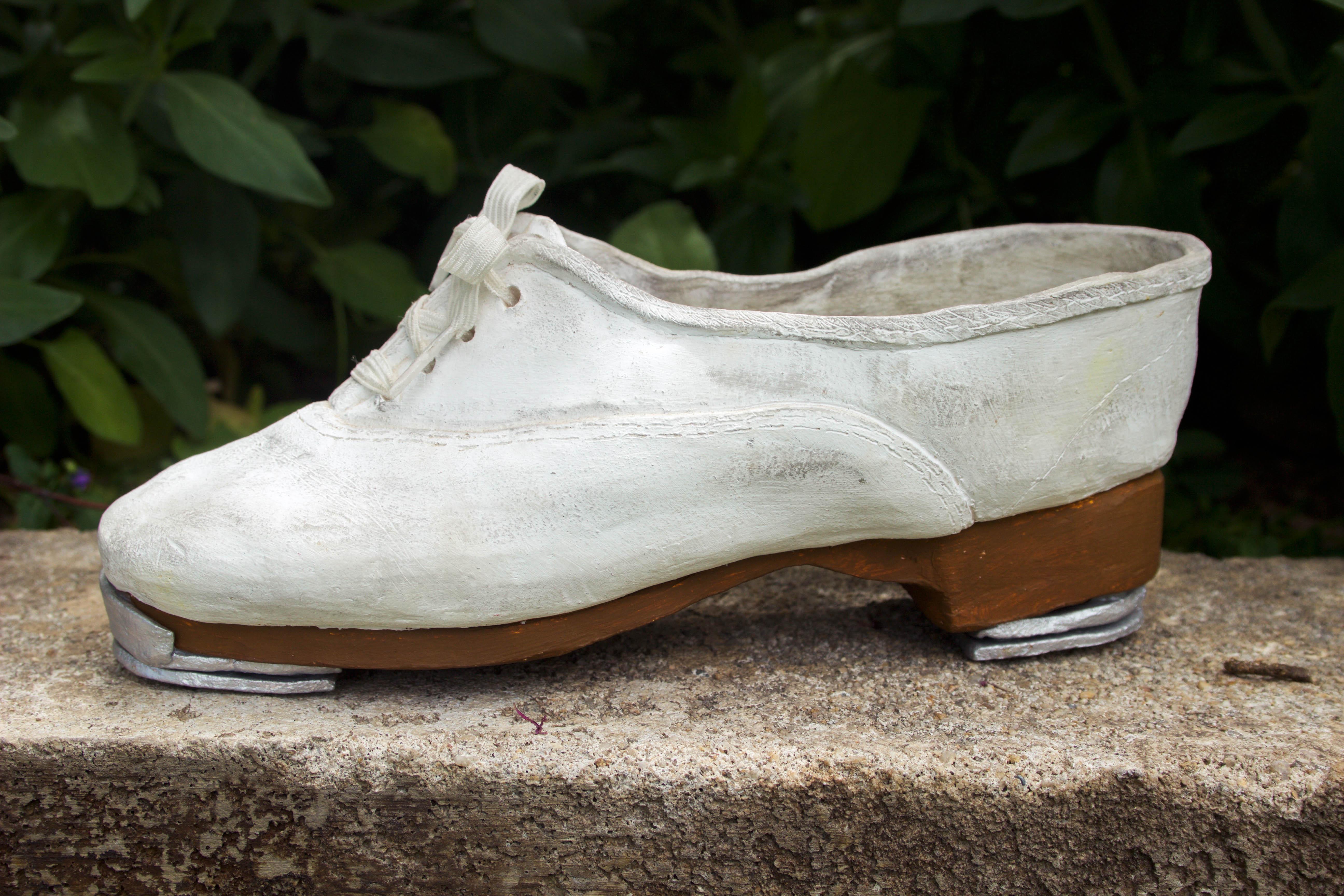 tap shoe ceramic sculpture